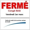 1er mars : des services ferms au CSSS du Surot