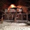 Le feu détruit une maison du chemin de la Beauce