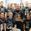 Le Noir et Or, champion 2012 du football collgial  la mairie