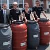Des barils récupérateurs d'eau de pluie à rabais