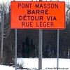 Début des travaux de reconstruction du pont Masson