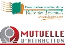 Commission scolaire Vallee-des-Tisserands et Mutuelle_d_Attraction logos