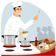 Chef-cuisnier-demonstration-Image-CPA-publiee-par-INFOSuroit-com_