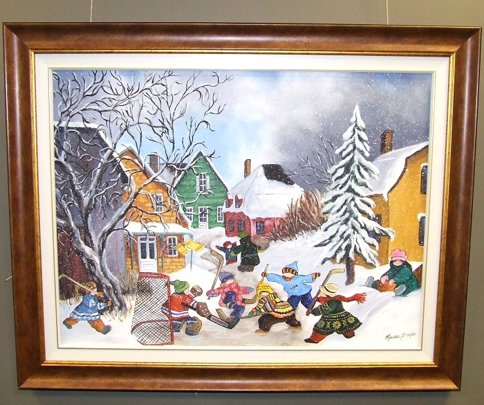 Tableau-scene-hiver-Marilise-Demers-Galerie-art-MRC-Beauharnois-Salaberry-Photo-courtoisie-publiee-par-INFOSuroit