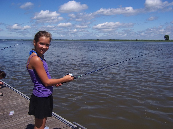 La pêche payante les étangs propres gdov