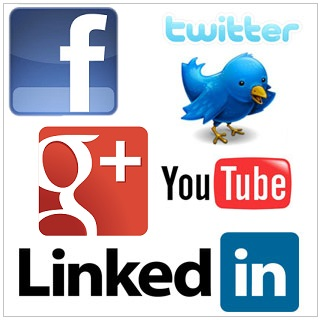 Medias-sociaux-Facebook-Twitter-Google+-YouTube-et-LinkedIn-Web-2.0-logos