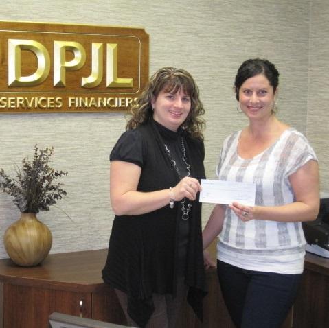 Groupe DPJL remet plus de 3 000 $ à la FRAS