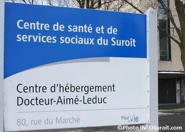 CHSLD Dr-Aime-Leduc enseigne CSSS Photo INFOSuroit_com JeannineHaineault