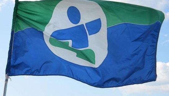 drapeau de la delegation du Sud-Ouest au Jeux du Quebec hiver 2015 Photo courtoisie