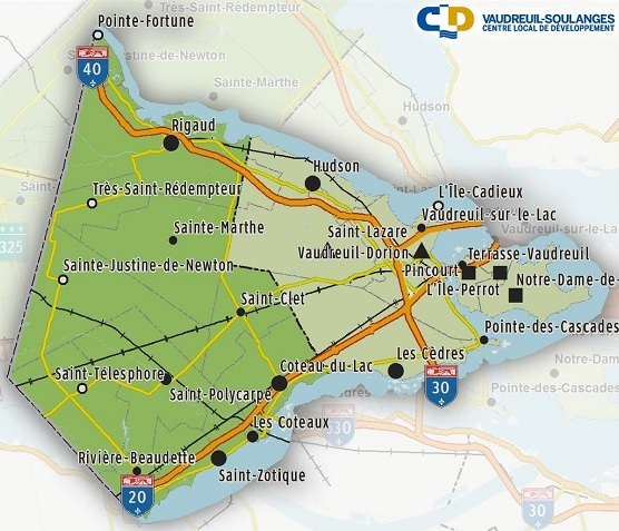 CLD Vaudreuil-Soulanges carte du territoire Image courtoisie