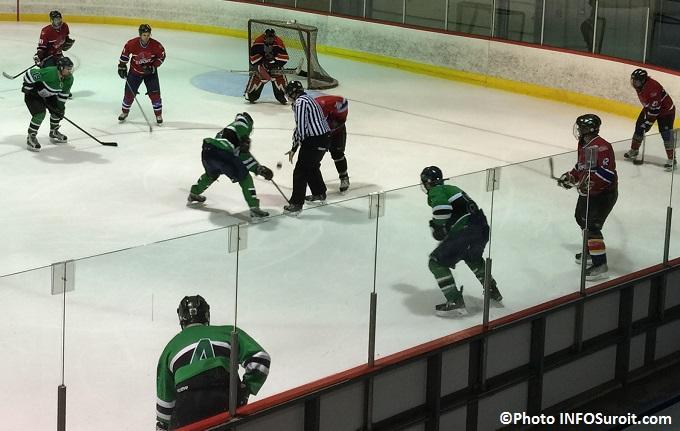 Hockeyton de la SQ Beauharnois_Salaberry joueurs policiers mise au jeu Photo INFOSuroit_com