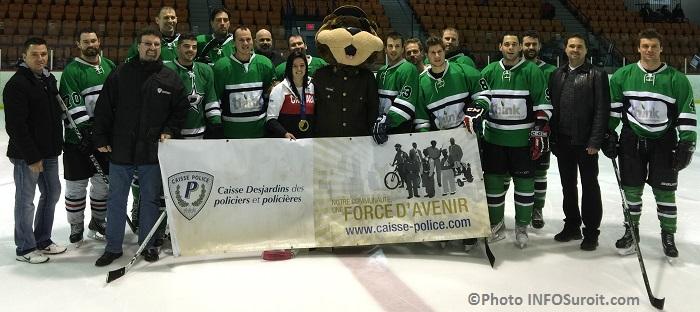 Hockeyton de la SQ Beauharnois_Salaberry policiers joueurs Melodie_Daoust et Polixe Photo INFOSuroit_com