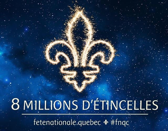 Fete nationale du Quebec theme 2015 8 millions d etincelles Image courtoisie FNQ