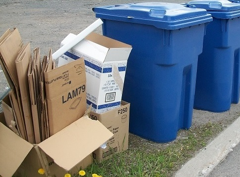 carton surplus collecte selective bac recuperation Photo courtoisie MRC BhS