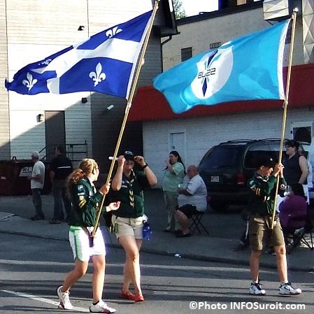 fete nationale du Quebec Saint-Jean drapeaux defile Valleyfield Photo INFOSuroit_com