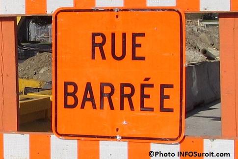 signalisation rue barree fermee detour travaux Photo INFOSuroit_com