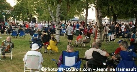 Les mardis en musique se poursuivent au parc sauv for Chambre de commerce valleyfield