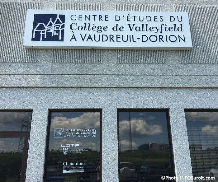 centre etudes college de Valleyfield et UQTR a Vaudreuil-Dorion Photo INFOSuroit_com