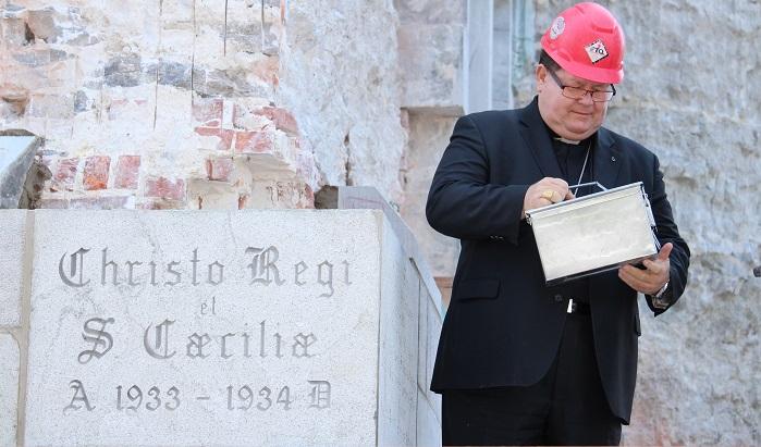 Cardinal Cyprien_Lacroix et capsule historique 2015 pour basilique Valleyfield Photo courtoisie DV