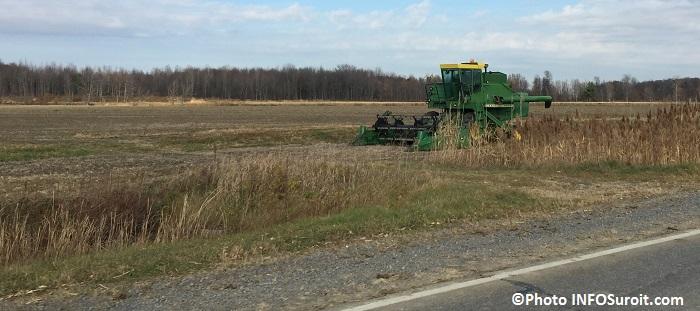 agriculture terre agricole et machinerie tracteur entre Godmanchester et Ormstown automne Photo INFOSuroit_com