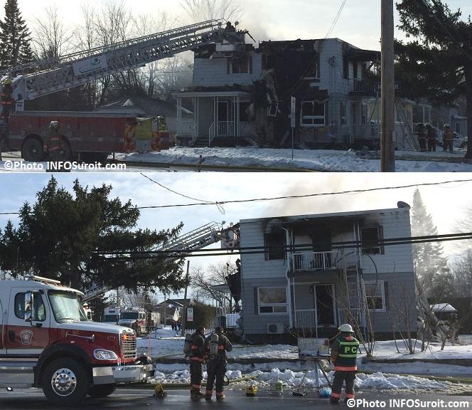 Incendie sur boul Melocheville Beauharnois Photos INFOSuroit_com