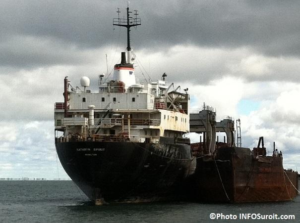 vieux cargo Kathryn_Spirit Voie maritime du St-Laurent Beauharnois Photo INFOSuroit