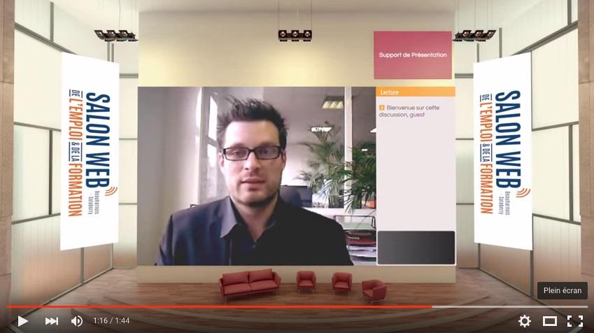 Salon Web Emploi et Formation 2016 Visuel extrait video de la Mutuelle d attraction