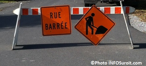 detour rue barree travaux signalisation Photo INFOSuroit_com