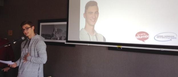 Samuel_Nolet au congres registraires en oncologie photo courtoisie