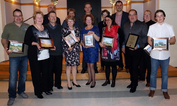 benevoles gala reconnaissance St-Urbain-Premier laureats 2016 et conseil municipal