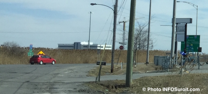 emplacement sur route 340 futur hopital vaudreuil-soulanges vue sur CLSC Photo INFOSuroit