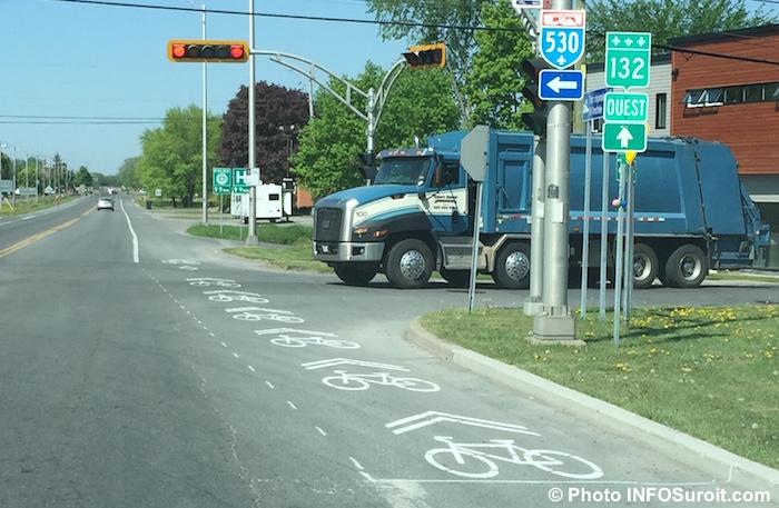 zone pour velo cyclisme boulevard Hebert Photo INFOSuroit