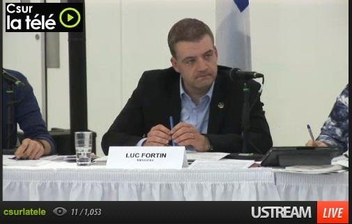 Capture ecran ministre de la Culture et de communications Luc_Fortin via Csur_tv