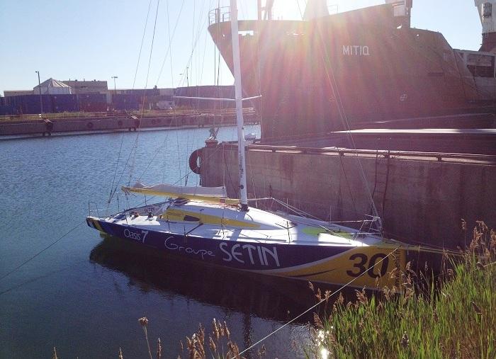 Voilier Groupe Setin a l eau au Port de Valleyfield Photo courtoisie