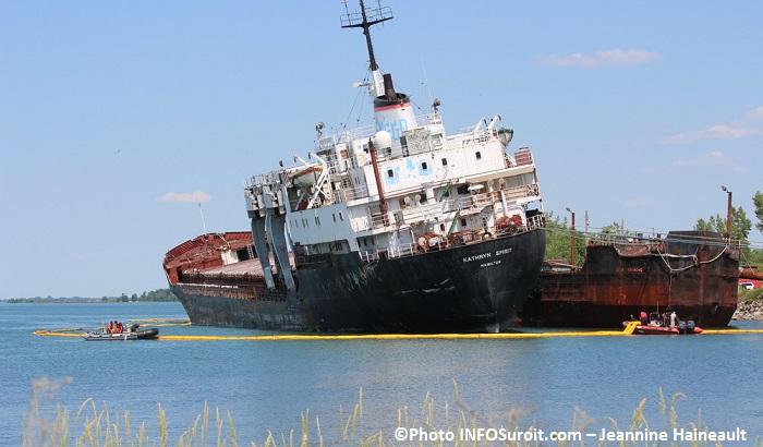 bateau Kathryn Spirit lac St-Louis a Beauharnois boudin environnement Photo INFOSuroit - Jeannine_Haineault