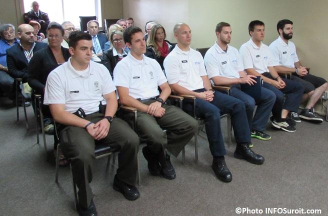 cadets et agents de la Securi-Parc 2016 pour la MRC Photo INFOSuroit