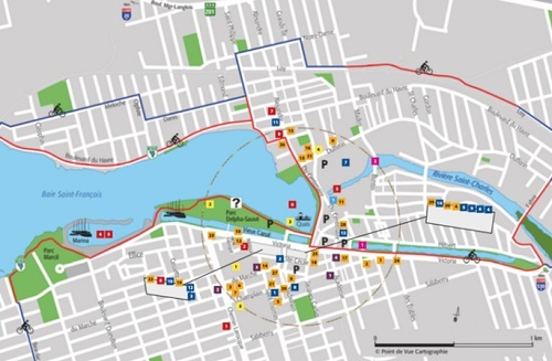 carte touristique 2016 centre-ville Salaberry-de-Valleyfield Image courtoisie