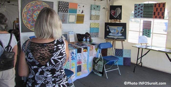 Festival des arts Valleyfield oeuvres kiosque sous chapiteau 2015 Photo INFOSuroit