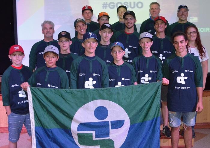 Jeux du Qc Sud-Ouest equipe baseball Photo Sud-Ouest courtoisie