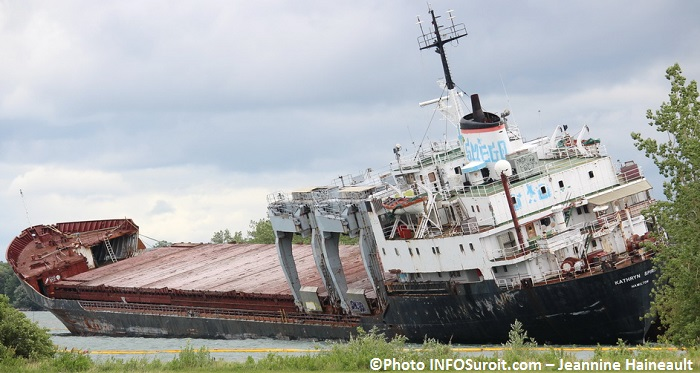 Kathryn Spirit cargo lac St-Louis Beauharnois 2 juillet Photo INFOSuroit-Jeannine_Haineault