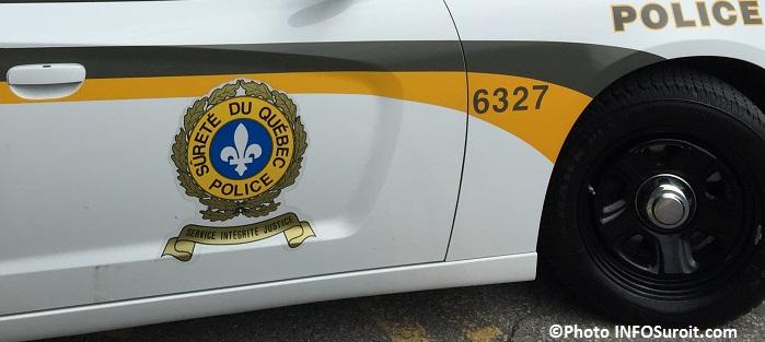 autopatrouille police SQ logo sur portiere Photo INFOSuroit_com