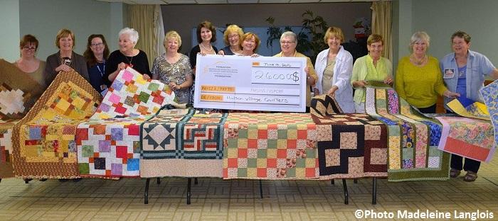 courtepointes pour Maison soins palliatifs VS Hudson Quilters Guild Photo Madeleine_Langlois via MSPVS
