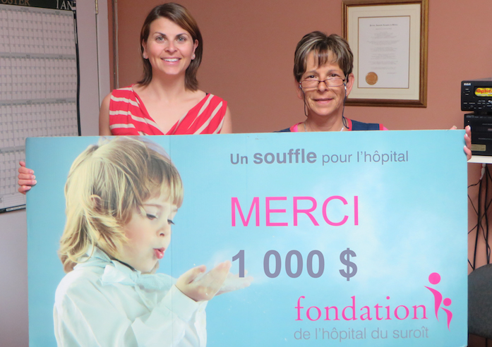 don centre du partage a fondation hopital suroit Photo courtoisie