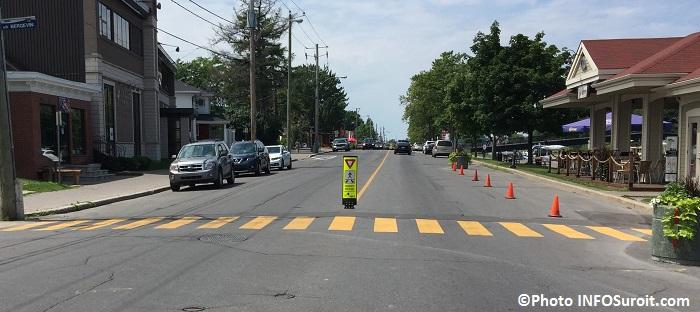 passage pietonnier jaune rue Victoria centre-ville Valleyfield Photo INFOSuroit