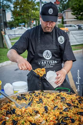 Place Dumont Vaudreuil-Dorion paella photo courtoisie Dan Bouguerra