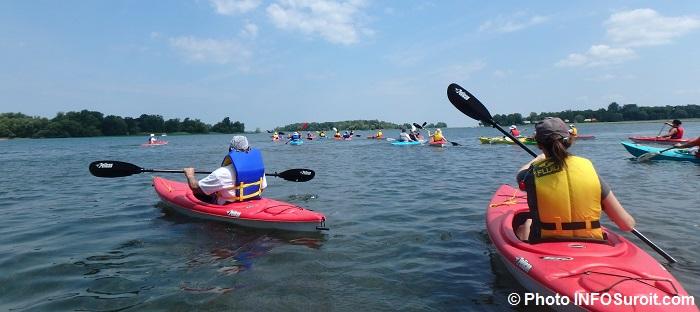 excursion kayaks lac St-Louis avec equipe de Kayak Beauharnois-Salaberry aout 2016 Photo INFOSuroit