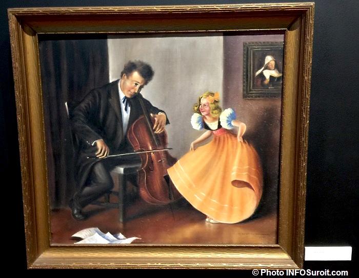 exposition AlbertDumouchel au MUSO a Valleyfield tableau AD Photo INFOSuroit
