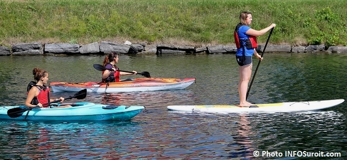 kayak et paddleboard Pelican sur Vieux canal a Valleyfield Photo INFOSuroit