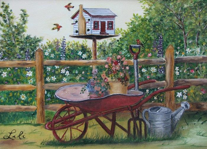 brouette_fleurie-peinture-de-lise_tessier-image-muncipalite-st-louis-de-gonzague