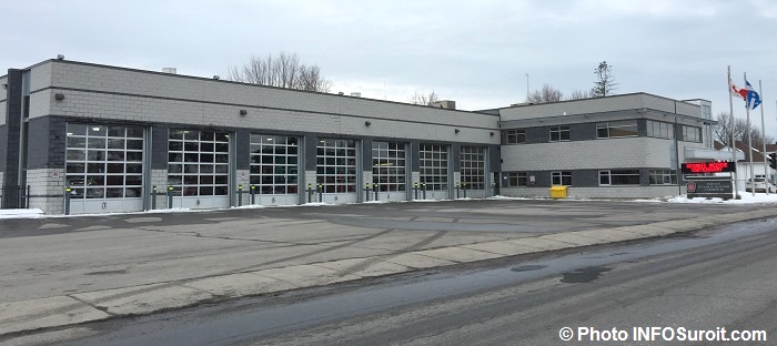 Caserne pompiers service securite incendie Chateauguay hiver Photo INFOSuroit